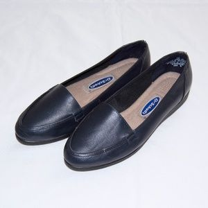 Dr. Scholls Navy Blue Leather Loafers